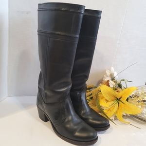 Frye jane black leather boots